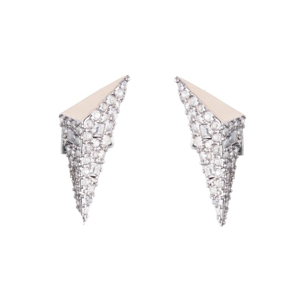 6d49a493c Two Tone Crystal Encrusted Pyramid Post Earring. NWT. Alexis Bittar